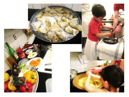 children cooking